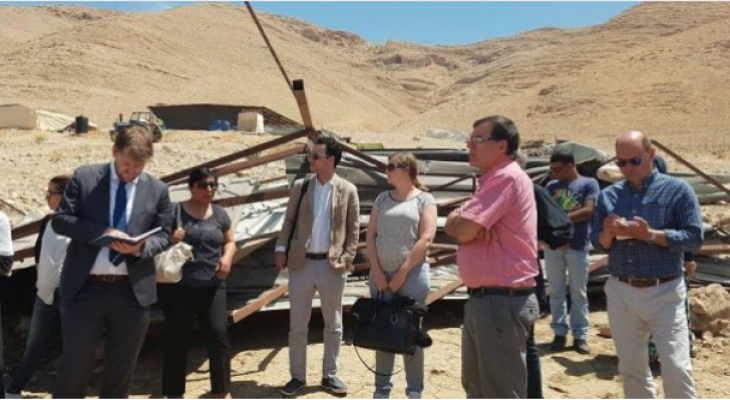 EU Heads of Cooperation visit Area C projects in the Jordan Valley