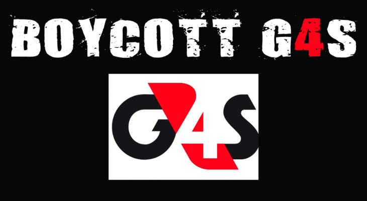 Global Security Company G4S deepens ties with Israeli apartheid. Boycott G4S!