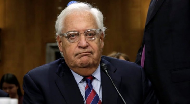 David Friedman refers to 'alleged' Israeli occupation