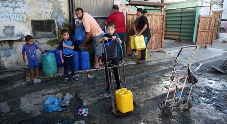 Agha: 98 Percent of Gaza water polluted