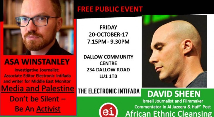 Public Event; with David Sheen and Asa Winstanley
