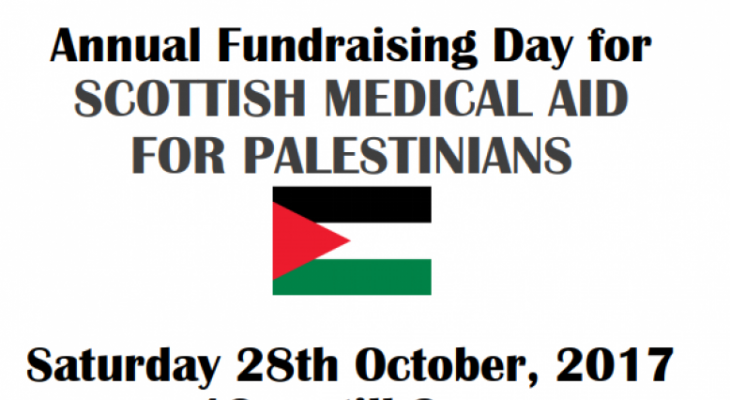 Fundraising Day: Scottish Medical Aid for Palestinians