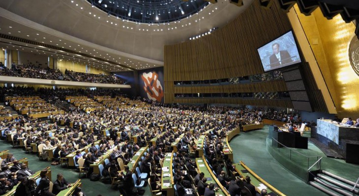 176 UN member states vote in favor of Palestinian's right to self-determination