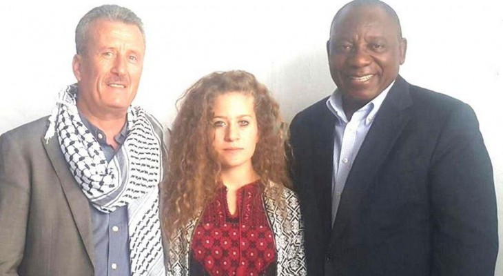 South Africa marks birthday of jailed Palestinian teen
