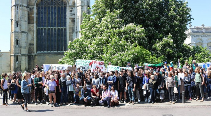 Take Action: After Gaza massacre, 38 Cambridge University student groups demand boycott of BAE and Caterpillar
