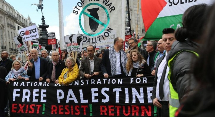 Thousands march for Palestine in London