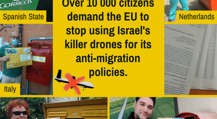 Over 10 thousand citizens ask the EU to stop using Israeli drones against migrants!