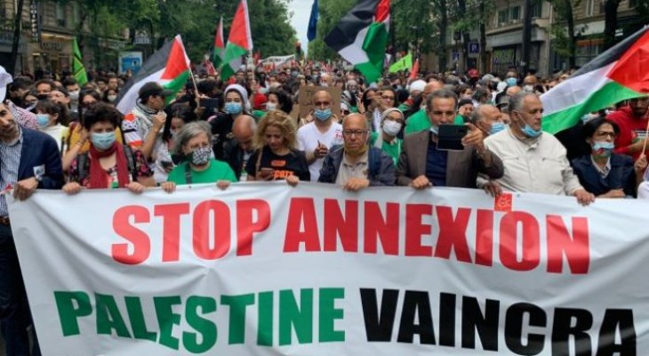 Video  Protests in Paris against Israel's annexation plans