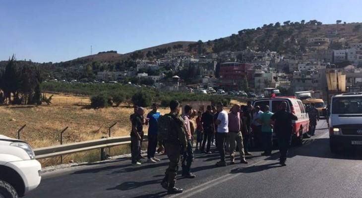 A 5 year old child struck by Israel army jeep in Al-Khalil