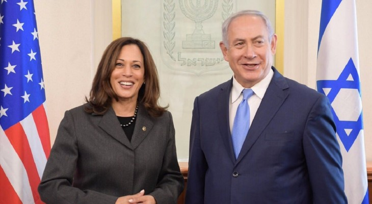 By clasping hands with Netanyahu, 'top cop' Kamala Harris whitewashes Israel's racism