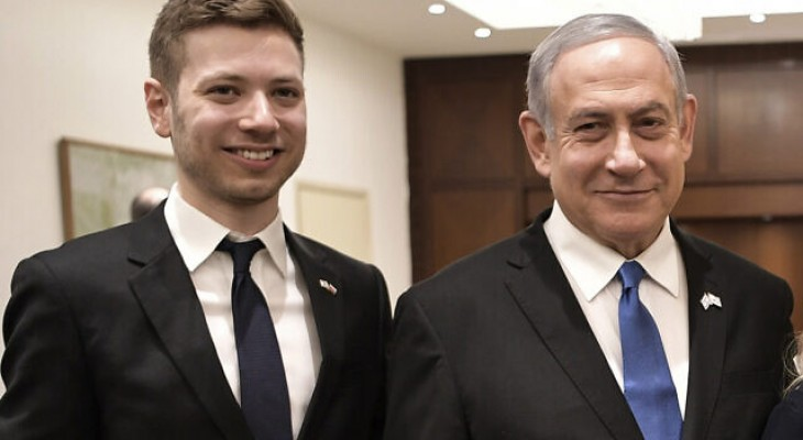 In DC for peace deal, Netanyahu's son tweets in support of Duma killer