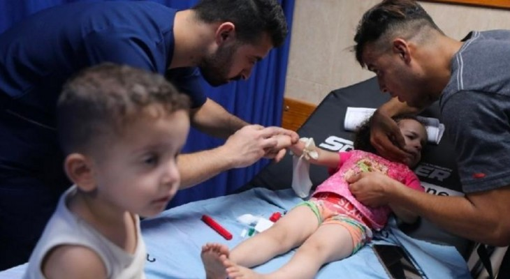 Israel bombards Gaza with airstrikes, traumatising tens of children