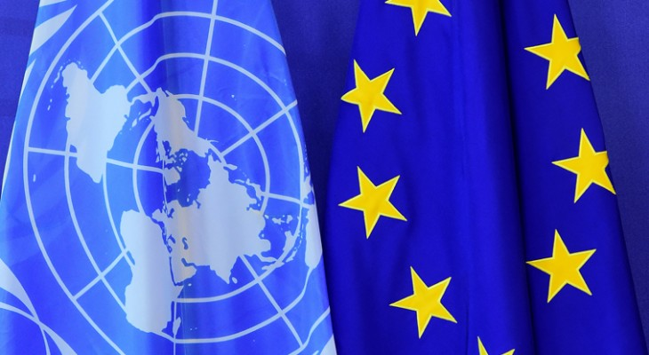 Joint Stakeout by Current and Incoming EU Members of the UN Security Council (Belgium, Estonia, France, Germany and Ireland) plus Norway on the Situation in the Middle East, November 18, 2020