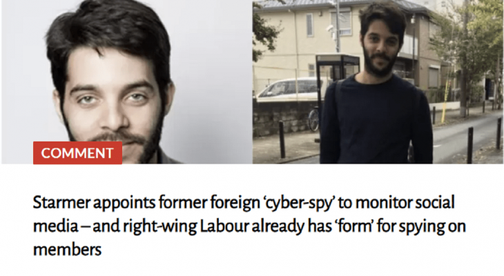 Labour members pass motion challenging Starmer over appointment of Israeli 'cyber-spy' to LOTO