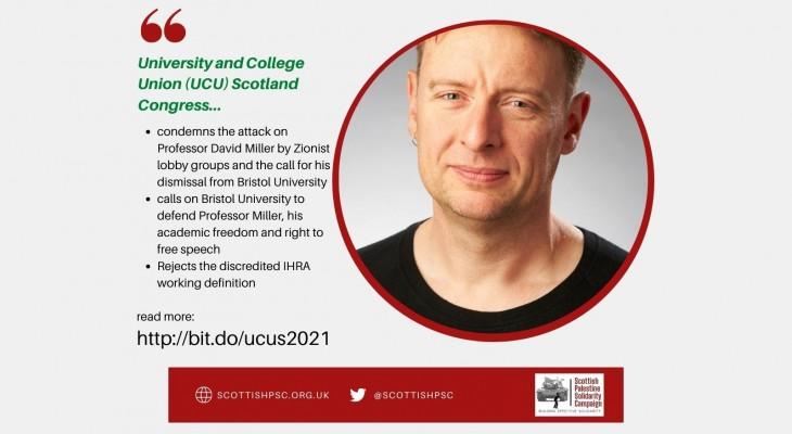UCU Scotland votes to defend Professor David Miller and rejects IHRA