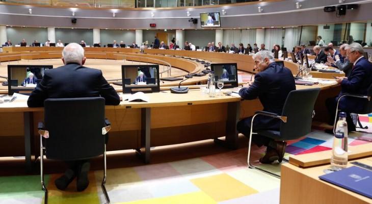 Israel's Lapid pumps European hands in Brussels