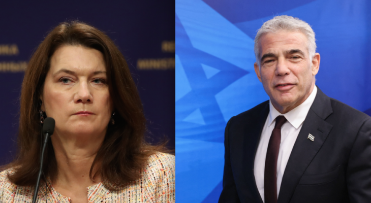 Sweden's new attitude towards Israel is based on its first telephone contact in seven years.